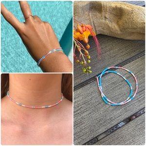 🍊🌿Handmade Double Wrap Bracelet & Necklace🌿🍊